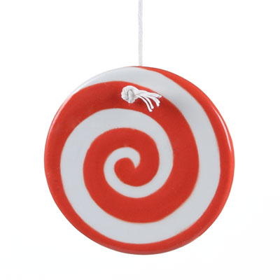 Swirly Twirly Peppermint DIY Christmas Ornament