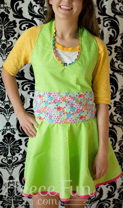 Stay Clean Apron Pattern for Teens