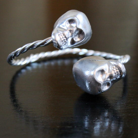 High-Fashion-Inspired Skull Bangle