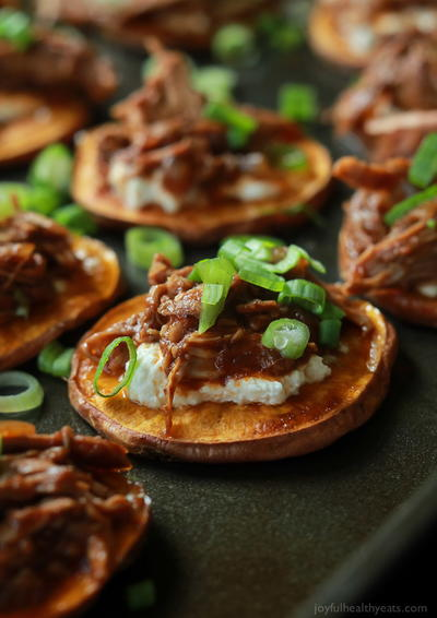 Pulled Pork Sweet Potato Bites