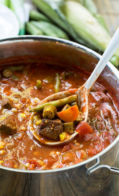 Loaded Vegetable Beef Soup