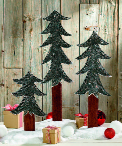 Country Christmas Pine Trees