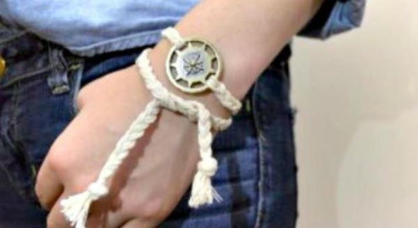 Nautical Wrap DIY Bracelet