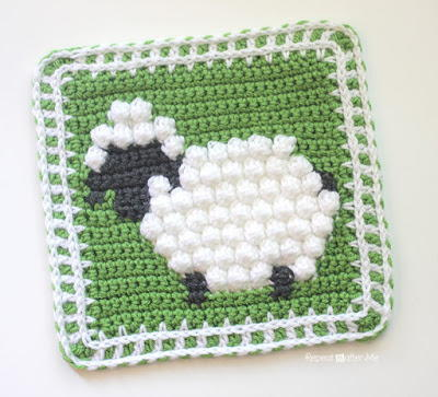 Pretty and Playful Sheep Granny Square