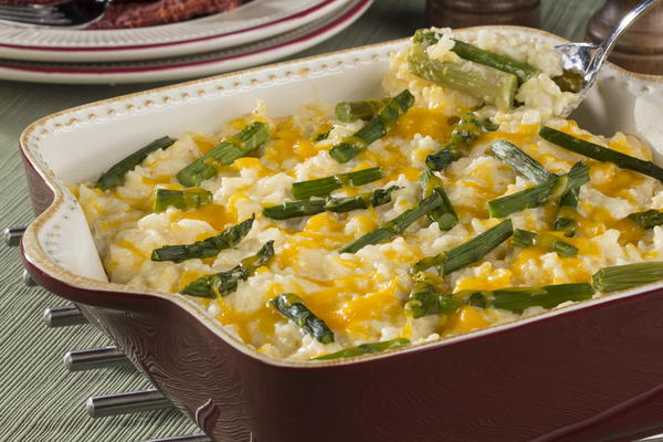 Rice and Asparagus Casserole