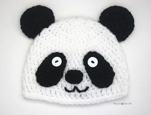 Easy Crochet Panda Hat