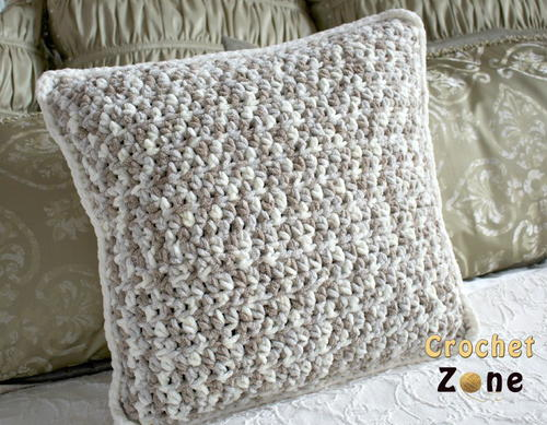 Neutral Crochet Pillow Pattern