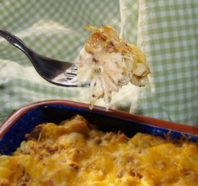 Easy Cheesy Rotisserie Chicken Casserole