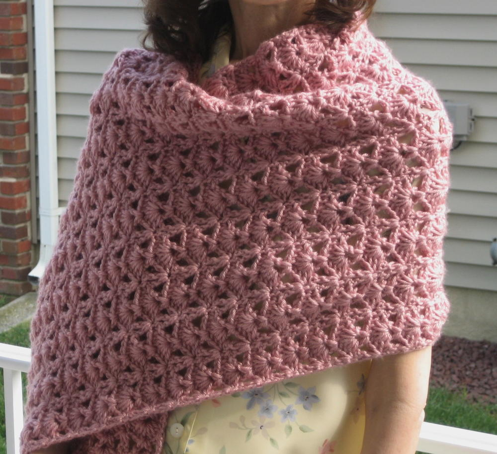 Easy Crochet Patterns For A Shawl : Princess Diana Crochet Shawl AllFreeCrochet.com