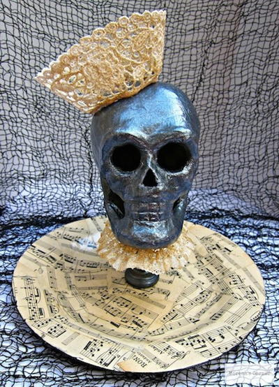 Papier Mache Queen of Skulls