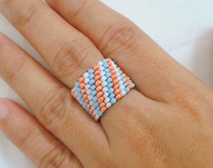 Spirited Peyote Stitch Ring