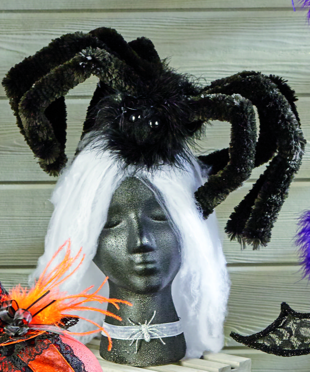 Knitting Pattern For Woolly The Spider : Giant Wooly Spider Halloween Headband ...