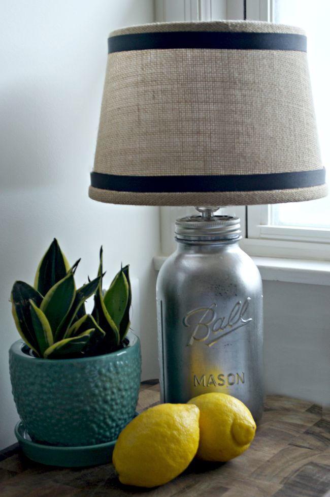 Diy Mason Jar Lamp Allfreeholidaycrafts Com