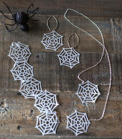 Paper Spider Web Jewelry