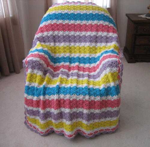 Summers End Glow Crochet Blanket