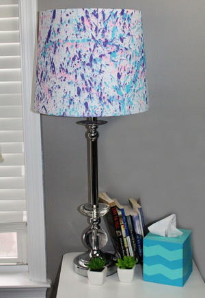 Splatter paint lamp shade allfreekidscrafts splatter paint lamp shade mozeypictures Choice Image