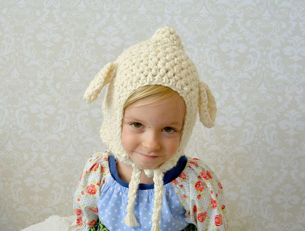 Vintage Lamb Crochet Toddler Hat Pattern Favecrafts Com