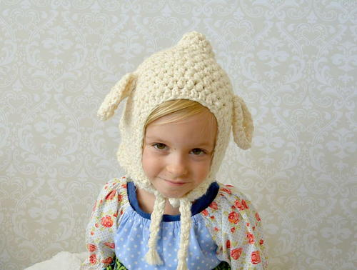 Vintage Lamb Crochet Toddler Hat Pattern