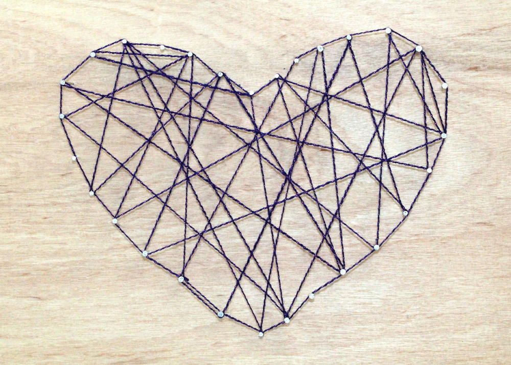 String art on wood - String art modele ...