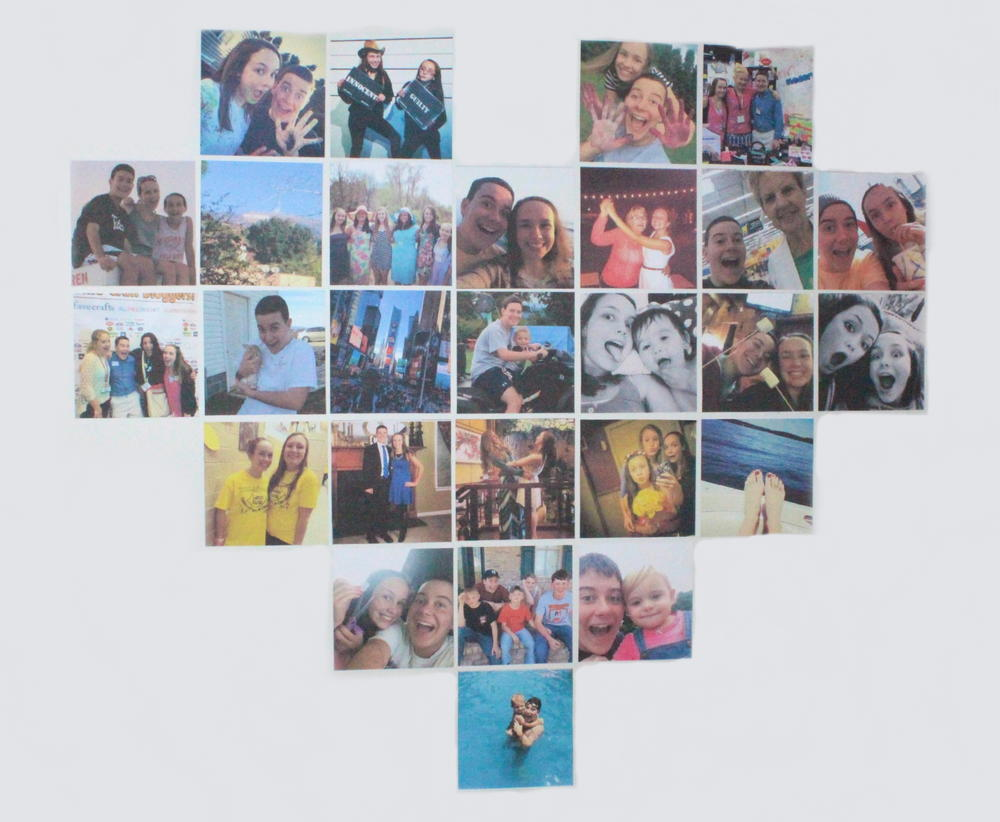 Heart Shaped Photo Collage AllFreeKidsCrafts