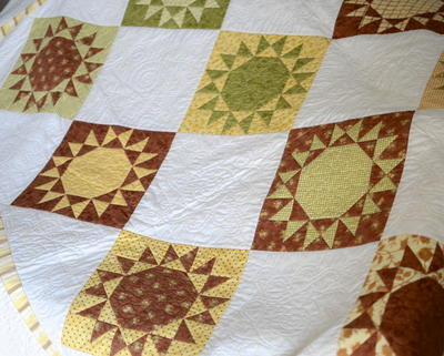 Nutmeg Star Quilt Block