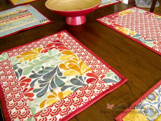 Ladies Who Lunch Placemat Pattern | FaveQuilts.com