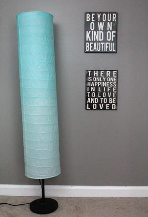Ombre Paper Lamp