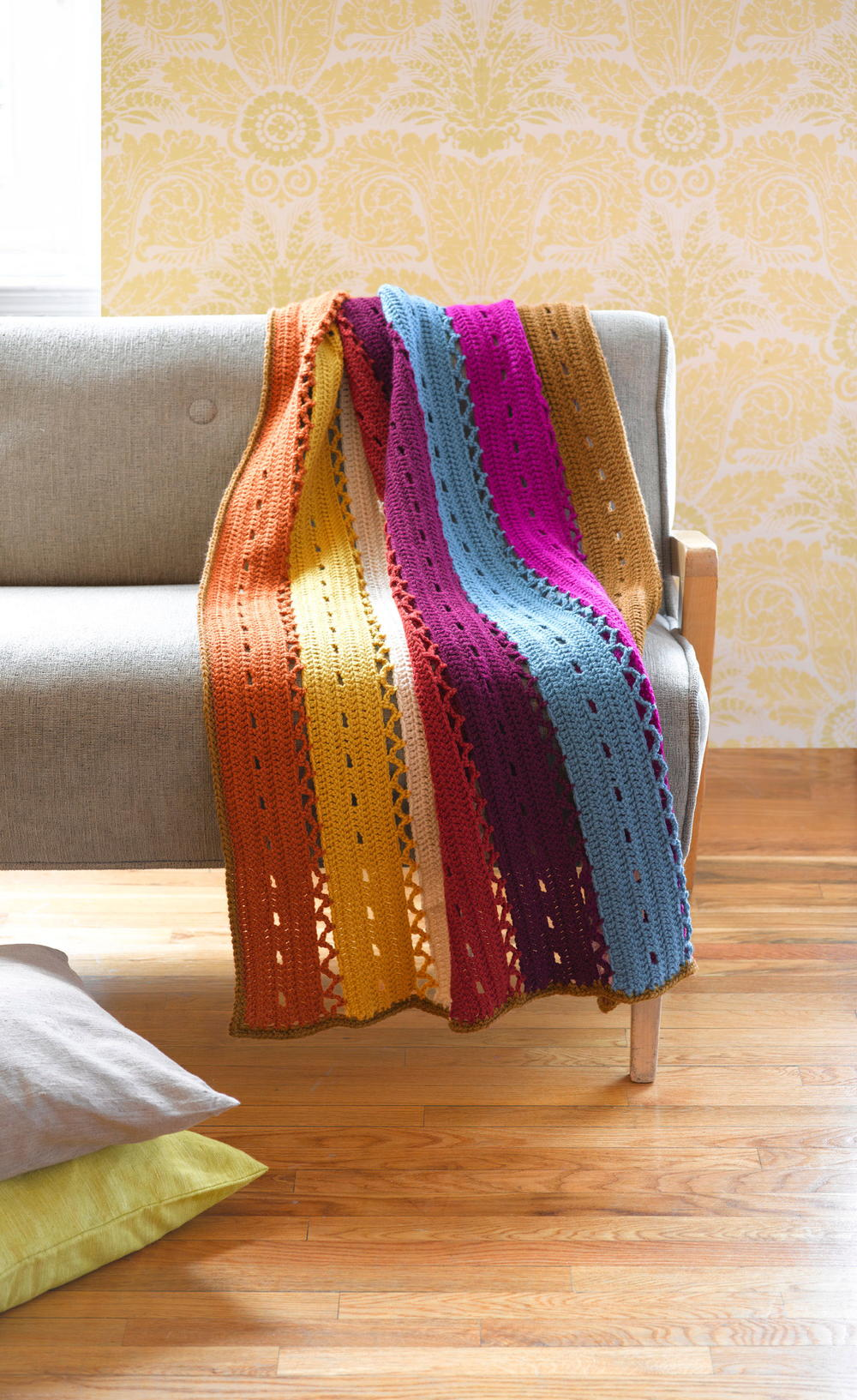 Colorful Windchime Afghan Favecrafts Com