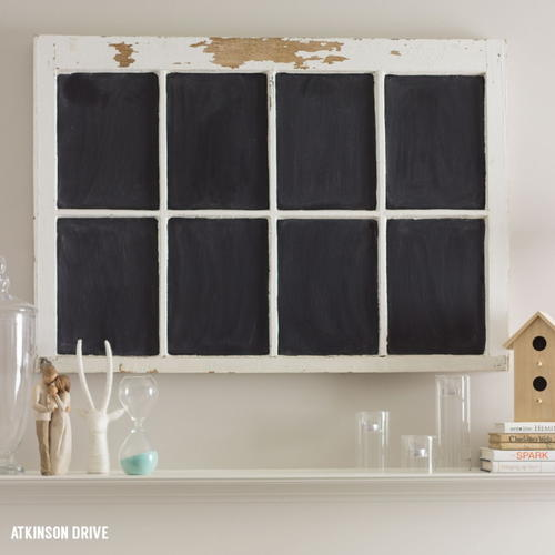 DIY Vintage Window Chalkboard