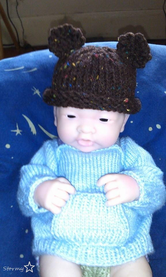 Baby Bear Newborn or Preemie Hat AllFreeKnitting.com