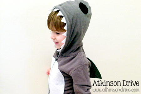 No Sew Shark Costume