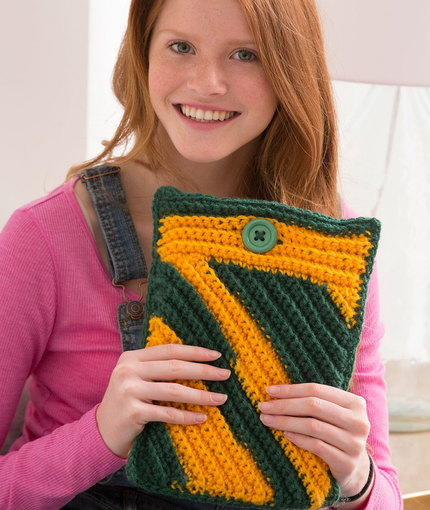 Spirited iPad Crochet Cozy