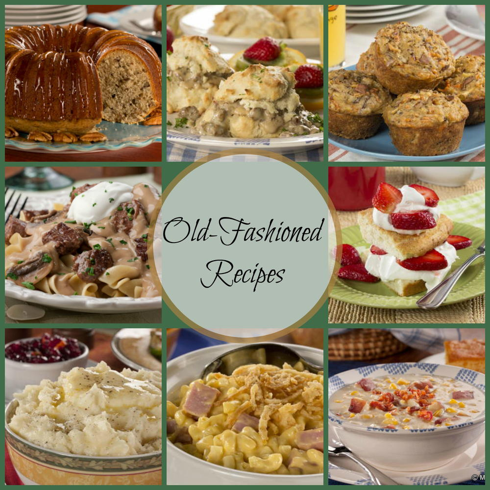 Classic Old-Fashioned Recipes: 42 Old-Fashioned Dinner