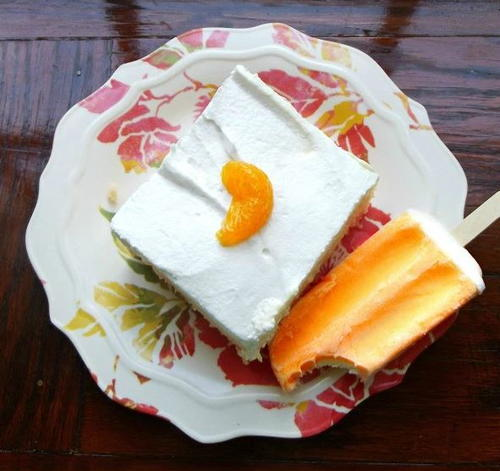 3-Ingredient Orange Creamsicle Poke Cake