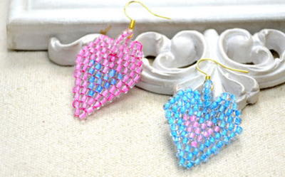 Beaded Heart DIY Earrings