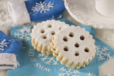Snowflake Tea Cookies