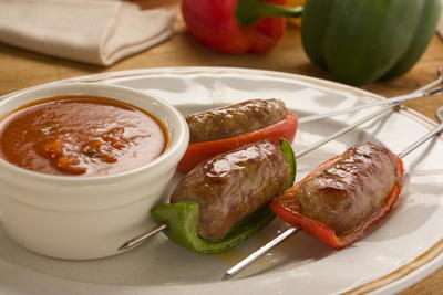 Sausage and Pepper Skewers