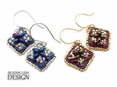Framed Dia Beaded Earrings
