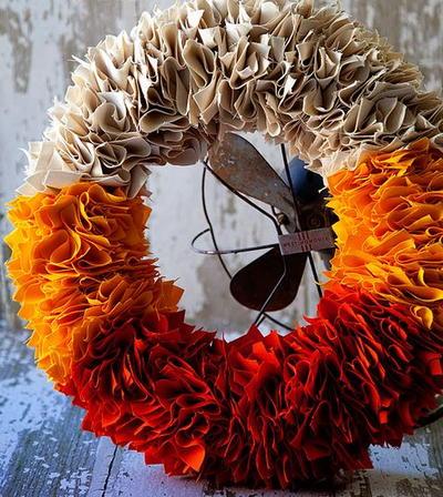 Vivid Color Block Wreath