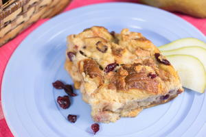 Pear and Cranberry Bread Pudding