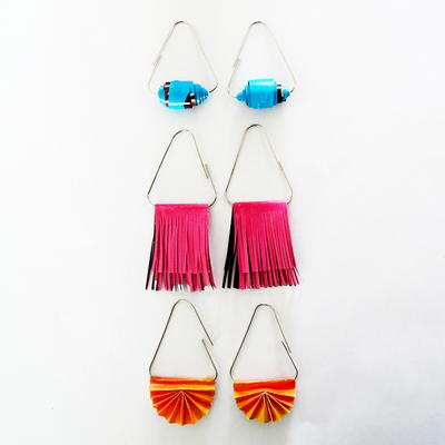How to make earrings with paper clips