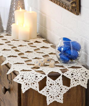 Star Bright Crochet Table Runner