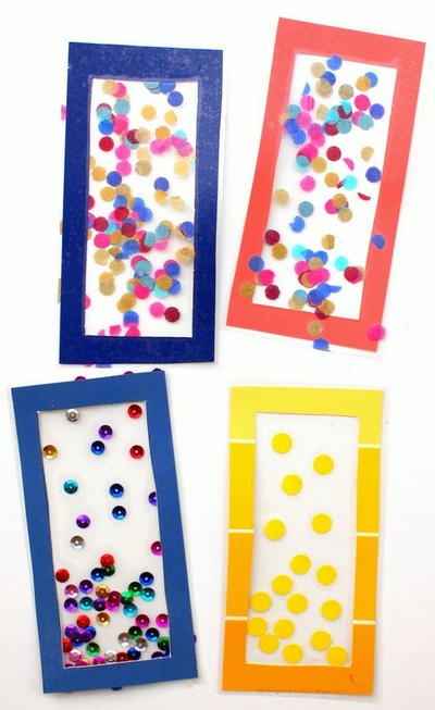 Confetti DIY Bookmarks