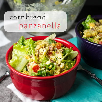 Jazzed-Up Cornbread Panzanella Salad