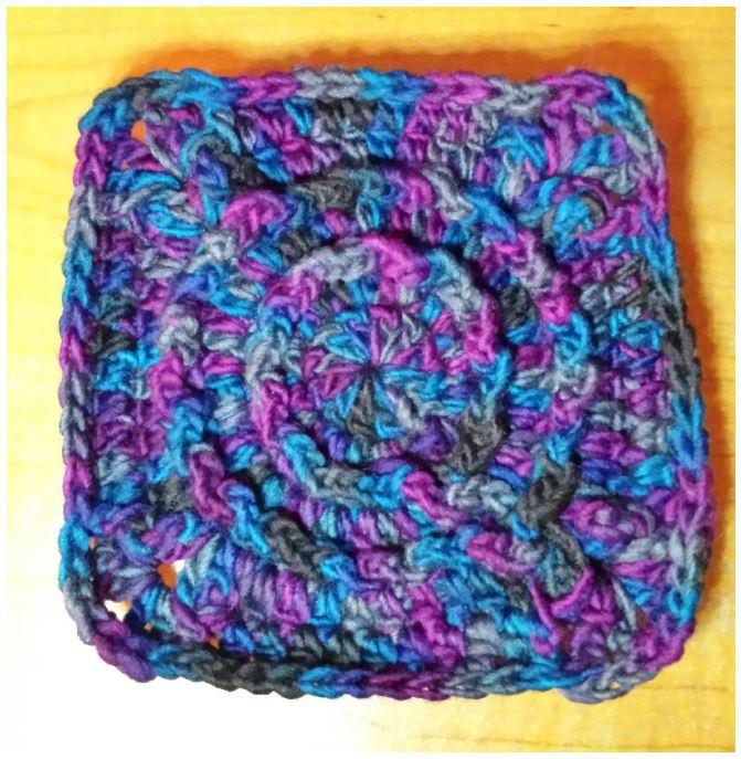 Ripple Around Granny Square Crochet Pattern