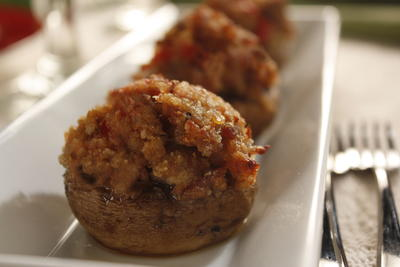 Sicilian Stuffed Mushrooms
