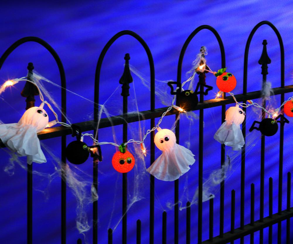 Lighted halloween garland for Halloween girlande