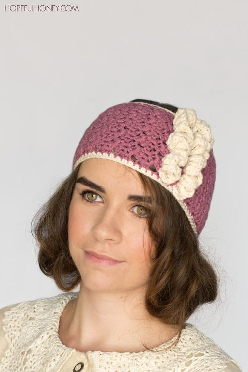 1920s Rose Swirl Crochet Headband