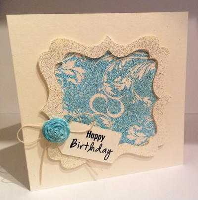 Brocade Birthday Card