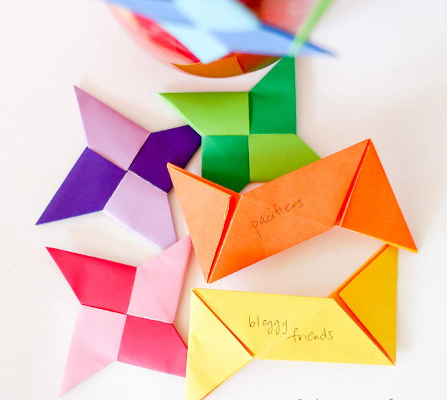 how to make a large origami ninja star